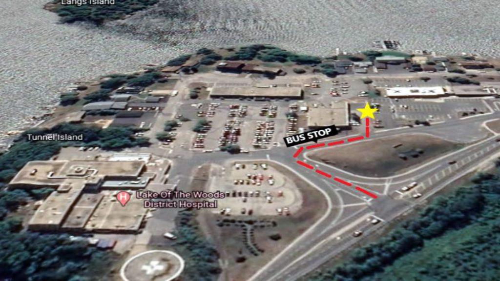 Kenora Hospital Aerial Map