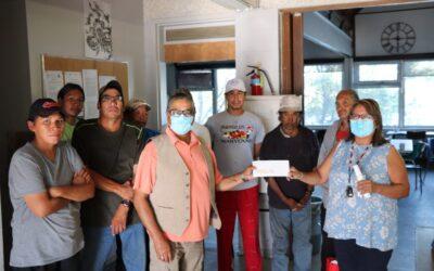 Ogichidaa Francis Kavanaugh Presents Kenora Fellowship Center with Donation Funds