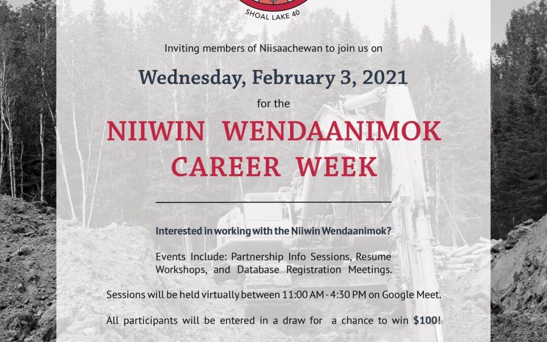Niiwin Wendaanimok Career Week